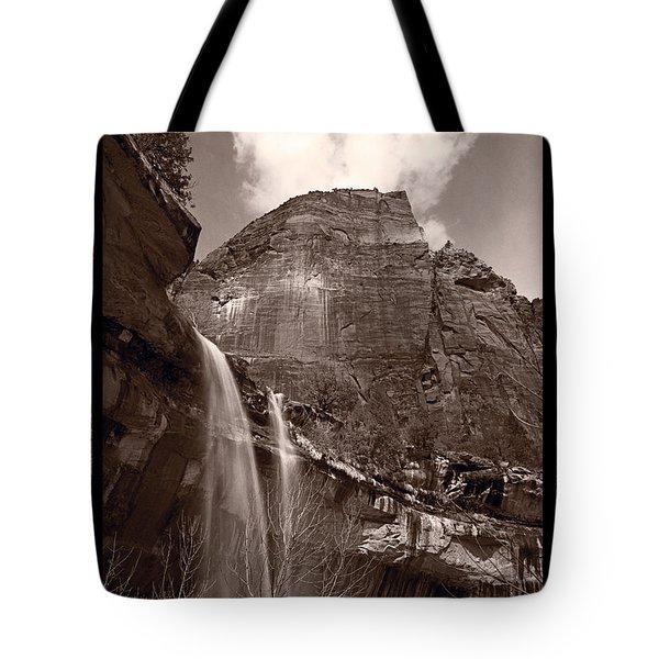 Emerald Pools Falls Zion National Park Tote Bag by Steve Gadomski