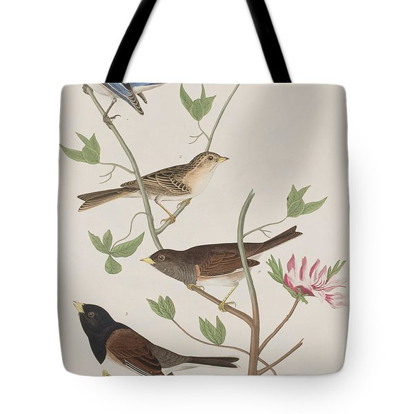 Finches Tote Bag by John James Audubon
