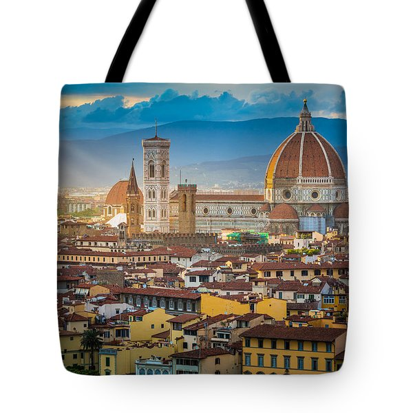 Firenze Duomo Tote Bag by Inge Johnsson