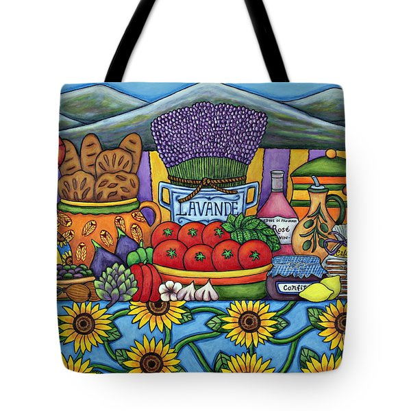 Flavours Of Provence Tote Bag by Lisa  Lorenz