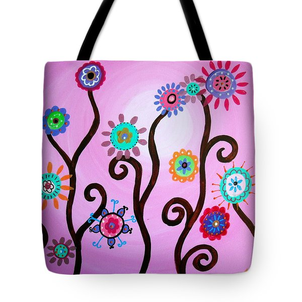 Flower Fest Tote Bag by Pristine Cartera Turkus
