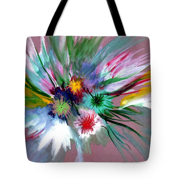 Flowers Tote Bag by Anil Nene