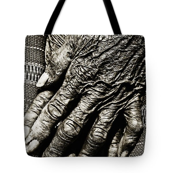 Folded Hands Tote Bag by Skip Nall