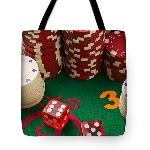 Gambling Dice Tote Bag by Garry Gay