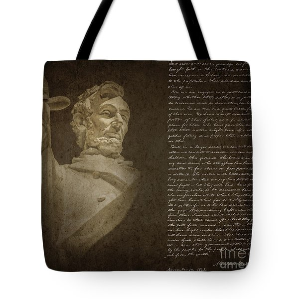 Gettysburg Address Tote Bag by Diane Diederich