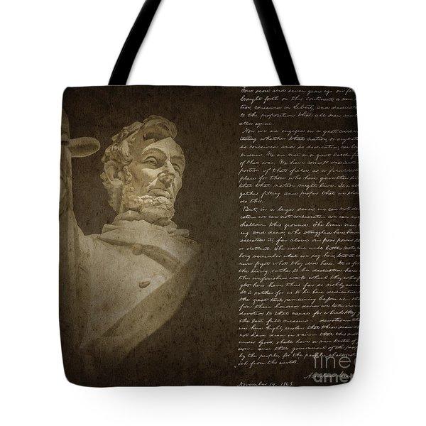 Gettysburg Address Tote Bag by Diane Diederich
