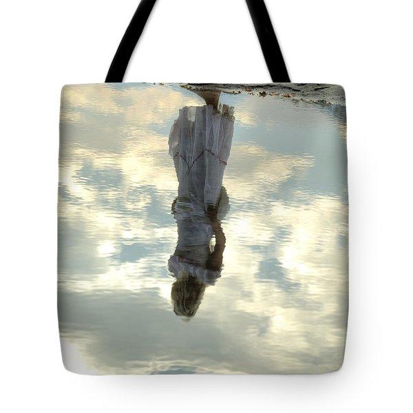 Girl And The Sky Tote Bag by Joana Kruse