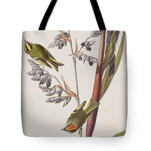 Golden-crested Wren Tote Bag by John James Audubon