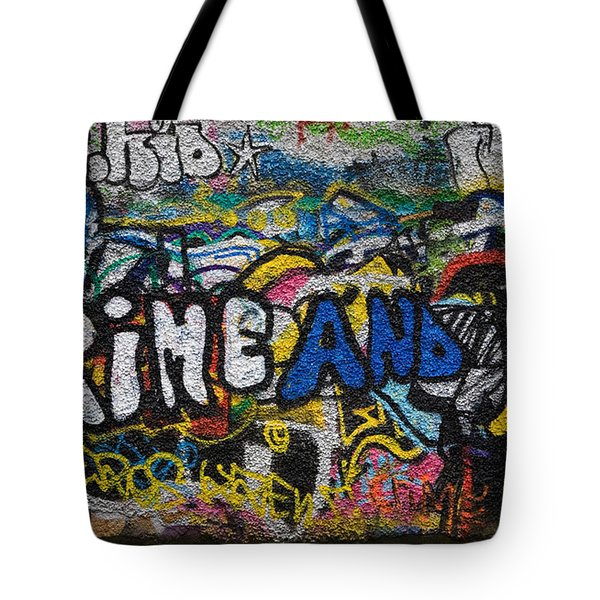 Grafitti On The U2 Wall, Windmill Lane Tote Bag by Panoramic Images