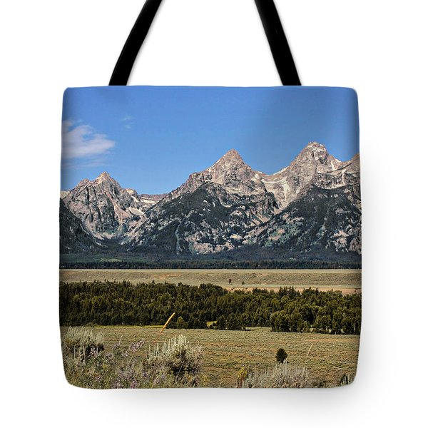 Grand Teton Wy Tote Bag by Christine Till