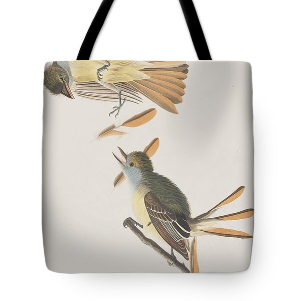 Great Crested Flycatcher Tote Bag by John James Audubon