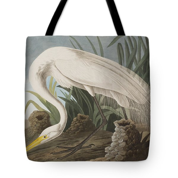 Great Egret Tote Bag by John James Audubon