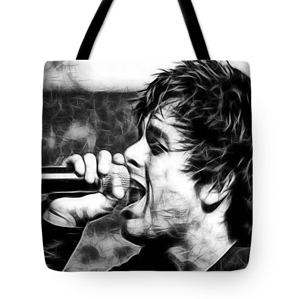 Green Day Billie Joe Armstrong Tote Bag by Marvin Blaine