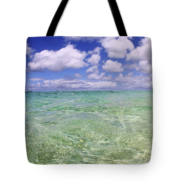 Green Water Seascape Tote Bag by Vince Cavataio