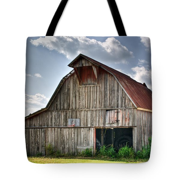 Grey Barn Tote Bag by Douglas Barnett