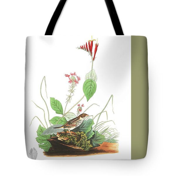 Henslow's Bunting  Tote Bag by John James Audubon