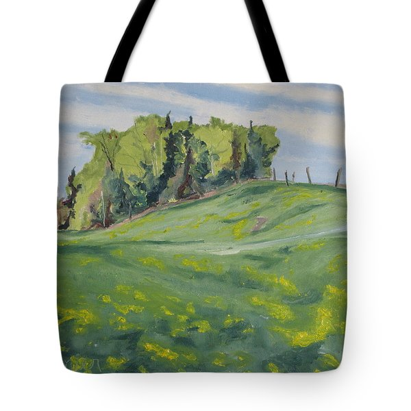 Hills Forest And Dadelions  Tote Bag by Francois Fournier