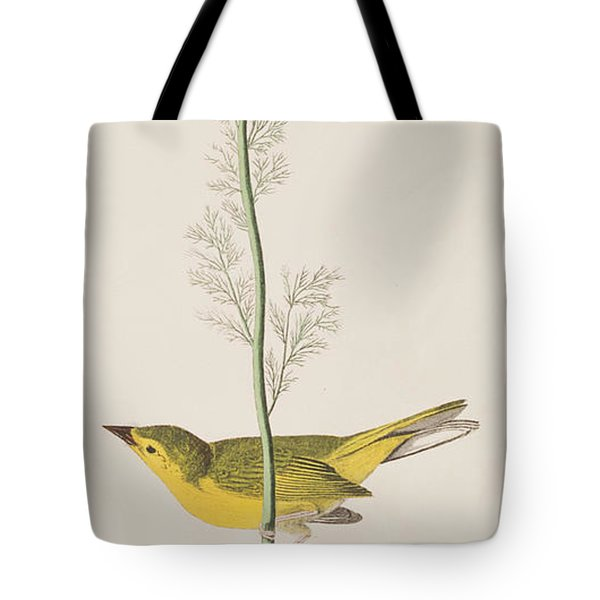 Hooded Warbler Tote Bag by John James Audubon