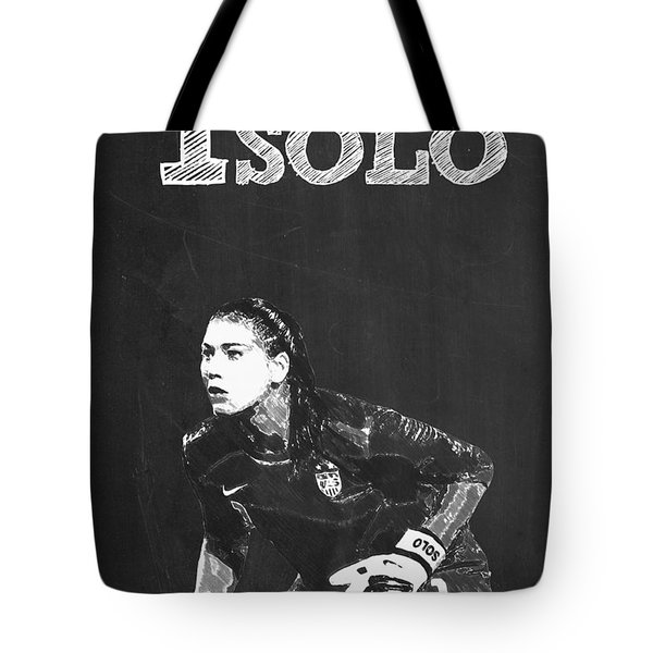Hope Solo Tote Bag by Semih Yurdabak