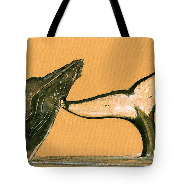Humpback Whale Painting Tote Bag by Juan  Bosco