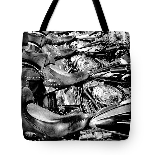 I'll Have a Dozen Harley's to Go Please Tote Bag by David Patterson