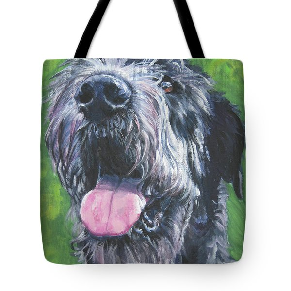 Irish Wolfhound Tote Bag by Lee Ann Shepard