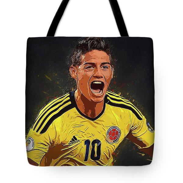 James Rodrigez Tote Bag by Semih Yurdabak