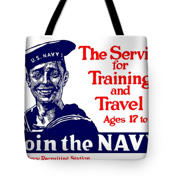 Join The Navy Tote Bag by War Is Hell Store