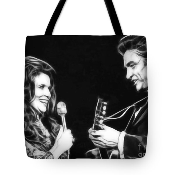 June Carter And Johnny Cash Collection Tote Bag by Marvin Blaine