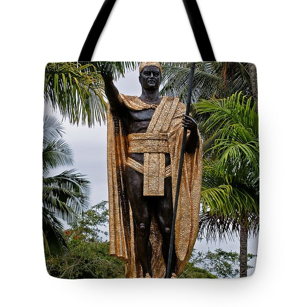 Kamehameha The Great Tote Bag by Christopher Holmes