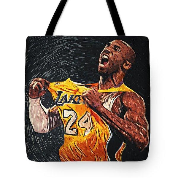 Kobe Bryant Tote Bag by Taylan Soyturk