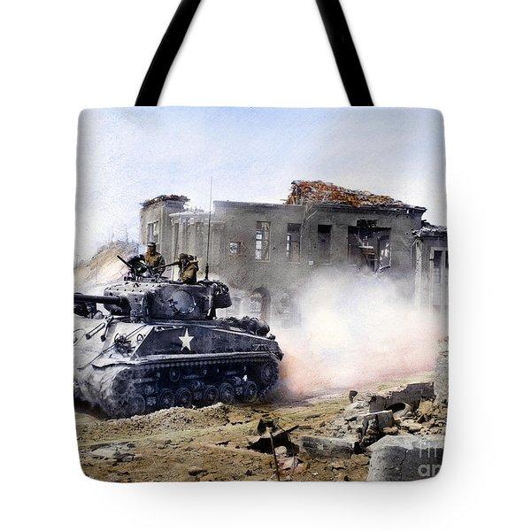 Korean War: Tank, 1951 Tote Bag by Granger