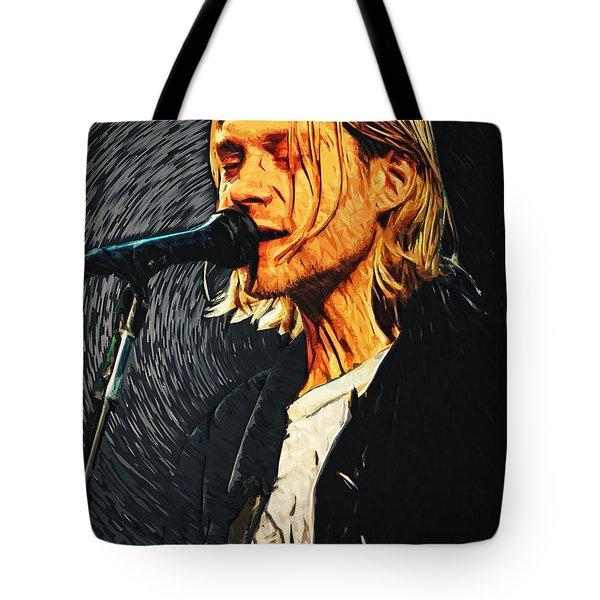 Kurt Cobain Tote Bag by Taylan Soyturk