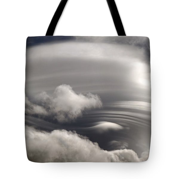 Lenticular Clouds Tote Bag by Donna Kennedy