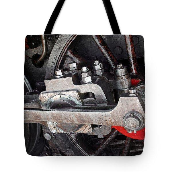 Locomotive Wheel Tote Bag by Carlos Caetano