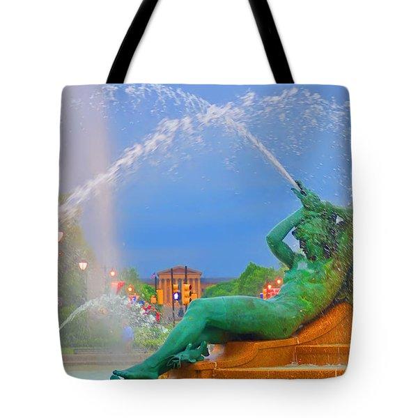 Logan Circle Fountain 1 Tote Bag by Bill Cannon