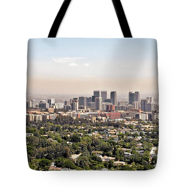 Los Angeles California - Glitter And Trouble Tote Bag by Christine Till