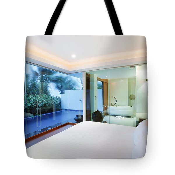 Luxury Bedroom Tote Bag by Setsiri Silapasuwanchai