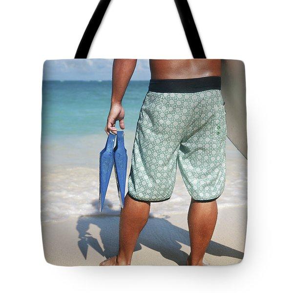 Male Bodyboarder Tote Bag by Brandon Tabiolo - Printscapes