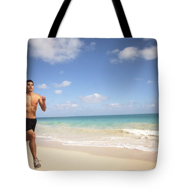 Male Runner Tote Bag by Sri Maiava Rusden - Printscapes