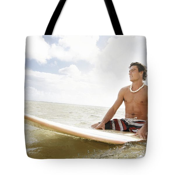 Male Surfer Tote Bag by Brandon Tabiolo - Printscapes