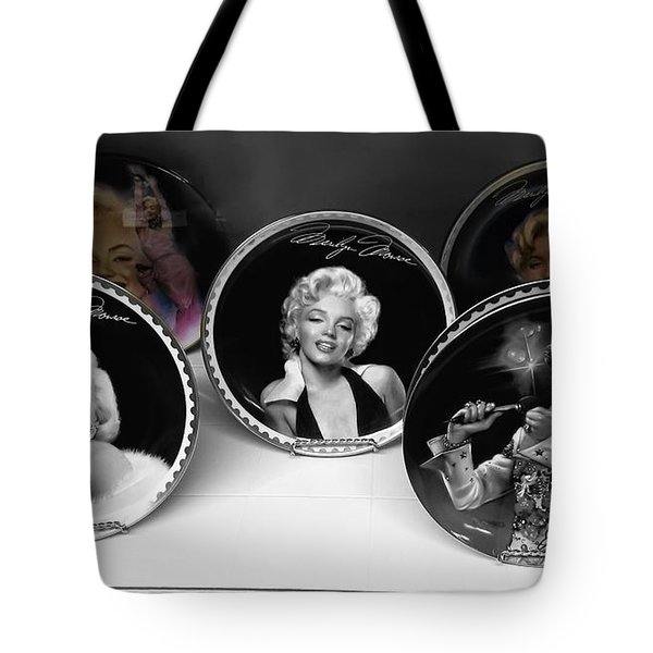 Marilyn And Elvis Tote Bag by Daniel Hagerman
