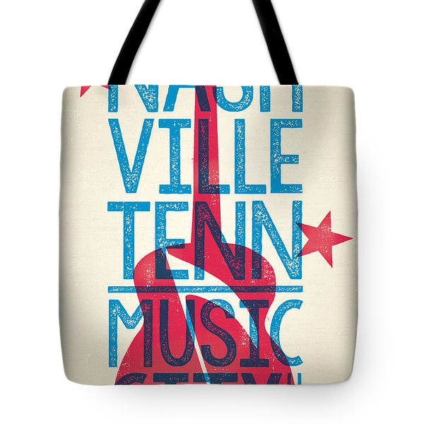 Nashville Tennessee Poster Tote Bag by Jim Zahniser