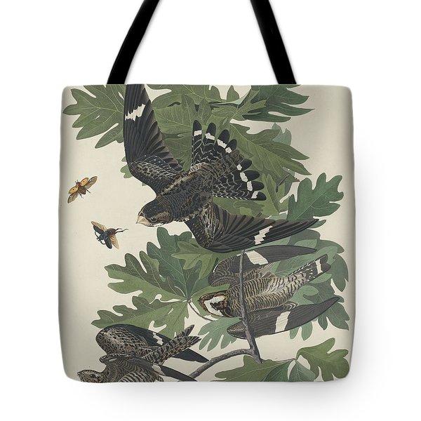 Night Hawk Tote Bag by John James Audubon