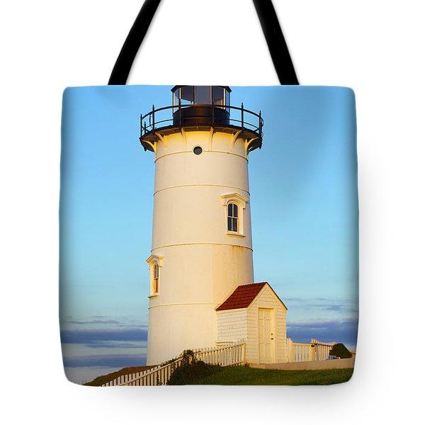 Nobska Point Light Tote Bag by John Greim