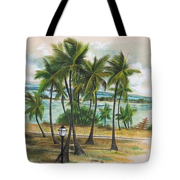 Old San Juan - Morro Tote Bag by George Bloise