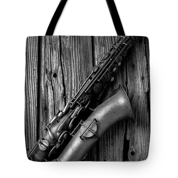 Old Sax Tote Bag by Garry Gay