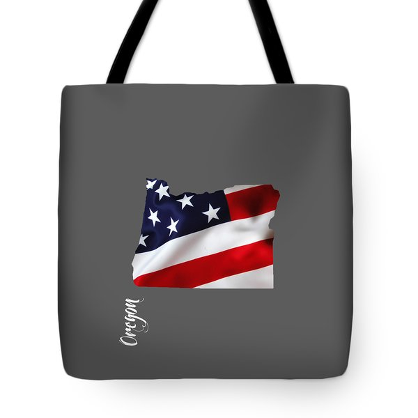 Oregon State Map Collection Tote Bag by Marvin Blaine