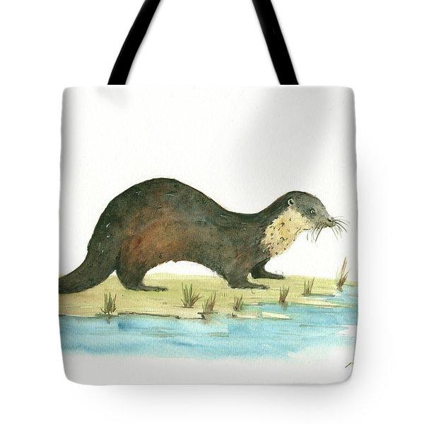 Otter Tote Bag by Juan Bosco
