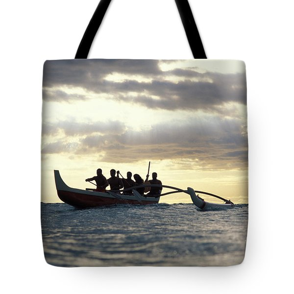 Outrigger Canoe Tote Bag by Vince Cavataio - Printscapes